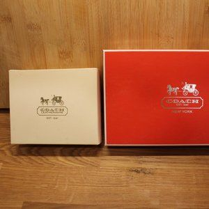 Two empty Coach Gift Boxes